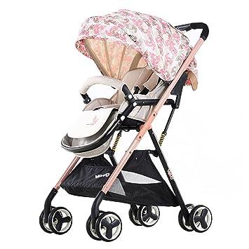 Amazon.es: Paisaje Alto Bebé Bebé Niño Cochecito Ligero Paraguas Plegable Coche para Bebés Puede Sentarse Carro para Niños Reclinable Carro para Niños ...