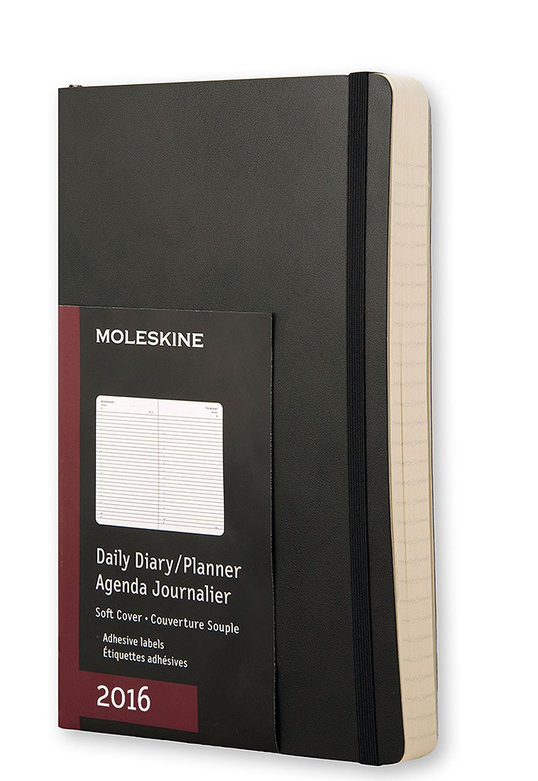 picture regarding Large Daily Planner named Moleskine 2016 Day by day Planner, 12M, Substantial, Black, Tender Address (5 x 8.25)