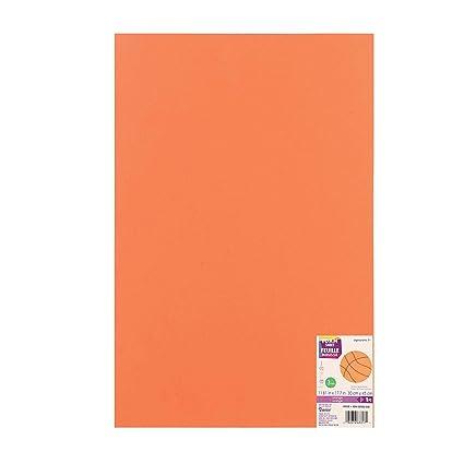 Bulk Buy: Darice Foamies Foam Sheet Orange 3mm thick 12 x 18 inches  (10-Pack) 1194-58