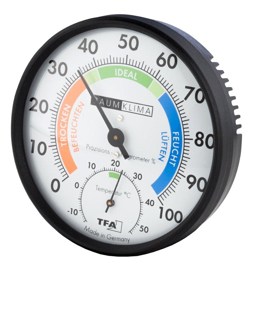 Wetterladen Klimatest 45.2030.12 Synthetic Hair Precision Hygrometer Black