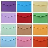 Tesan Mini Enveloppes Multi Couleur Mignon Enveloppes,60 Pièces,4,5 x 3,15 Pouces