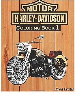 Amazon.com: Motor : Harley-Davidson Coloring Book 1: design coloring ...