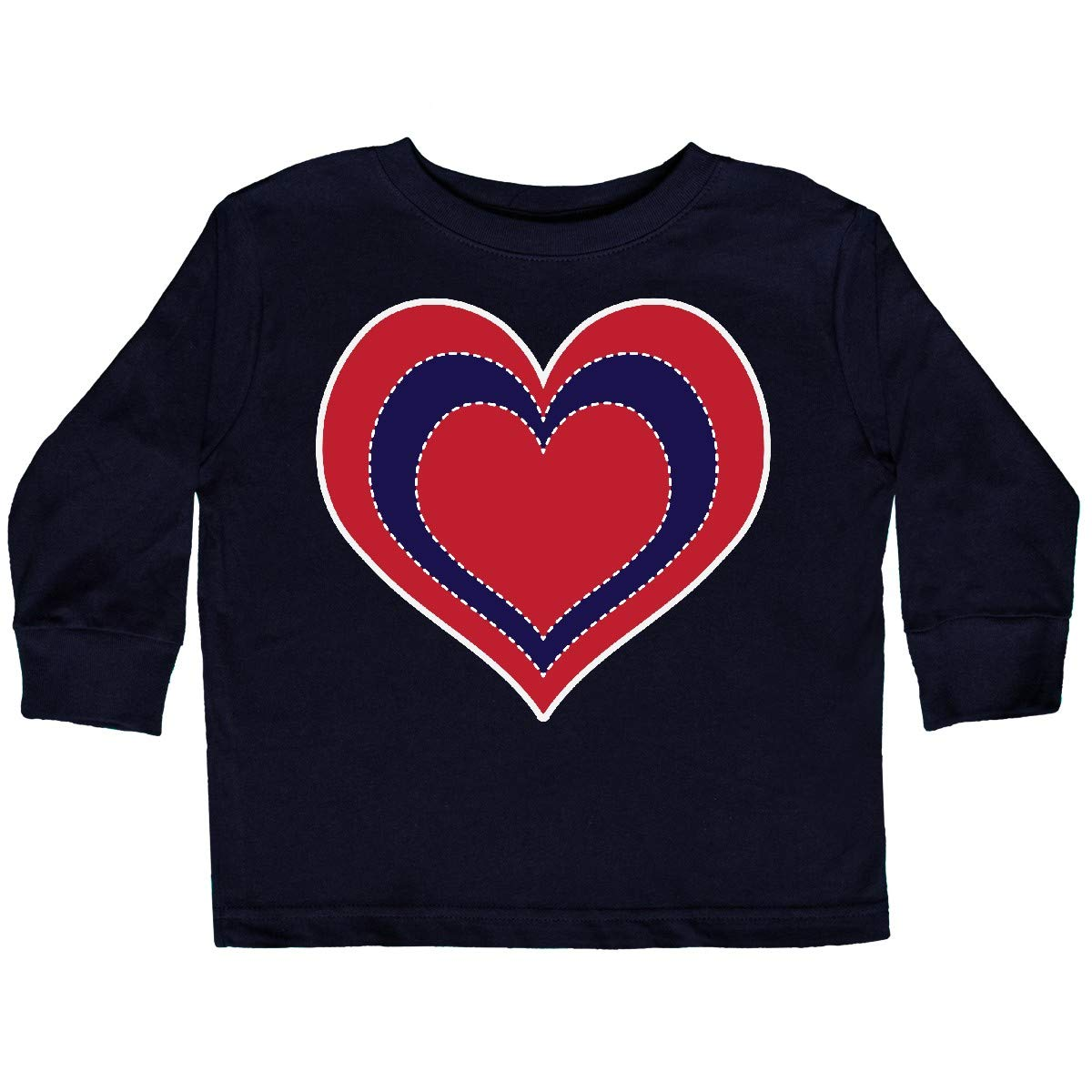 inktastic 4th of July Holiday USA Heart Toddler Long Sleeve T-Shirt