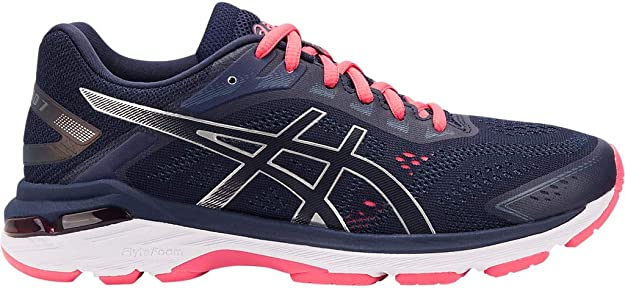 ASICS Women's GT-2000 7 Running Shoes, 5M, Peacoat/Silver