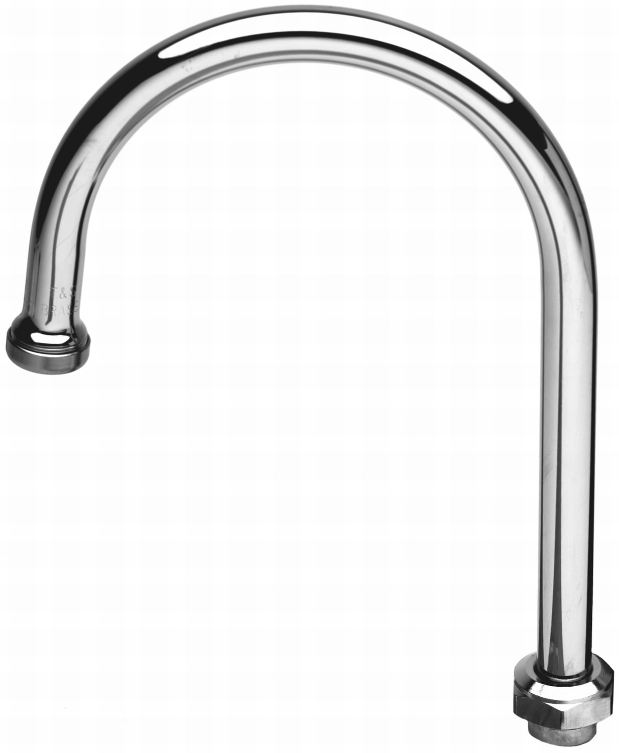 TS Brass 133X Swivel Gooseneck Spout, Chrome