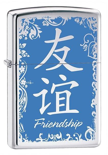 Amazon Zippo Chinese Symbol Friendship High Polish Chrome