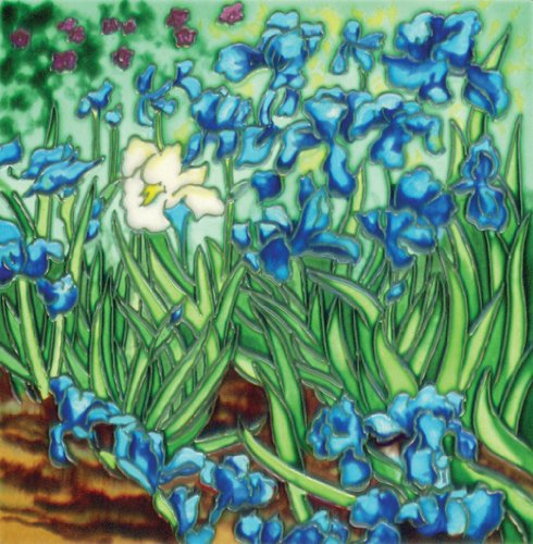 Iris By Van Gogh - Decorative Ceramic Art Tile - 8