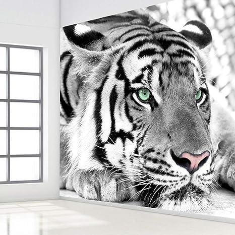 Gudojk Casa Mural 3d Photo Wallpaper Black White Animal