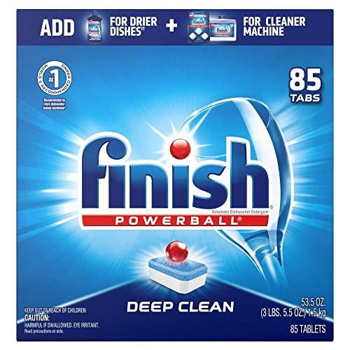 Finish - All in 1-85ct - Dishwasher Detergent - Powerball - Dishwashing Tablets