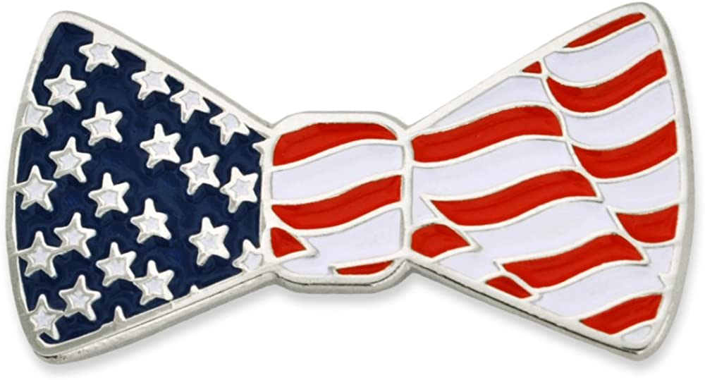 PinMart Popular products Phoenix Mall American Flag Patriotic Bow Pin Tie Enamel Lapel