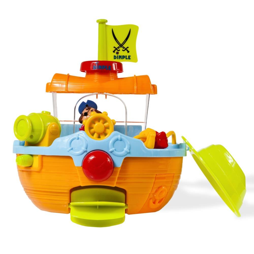 pirates ship toy wall mounted with water scoops and cannon for young kids children play time