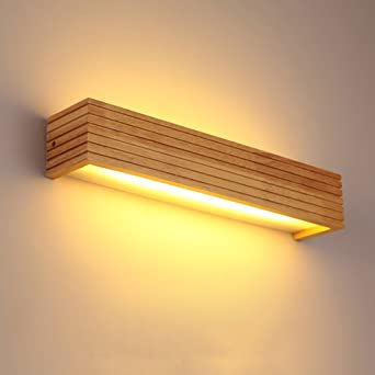 Hjzy Japonais Style Led Solide Bois Applique Lumière Mode Moderne