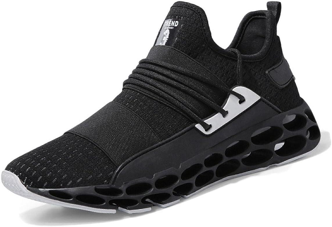 Zapatillas para Correr para Hombre Unisex Moda Guerrero Deportes Zapatos Casuales Amortiguación Desgaste Al Aire Libre Zapatillas para Correr,Black-39: Amazon.es: Zapatos y complementos