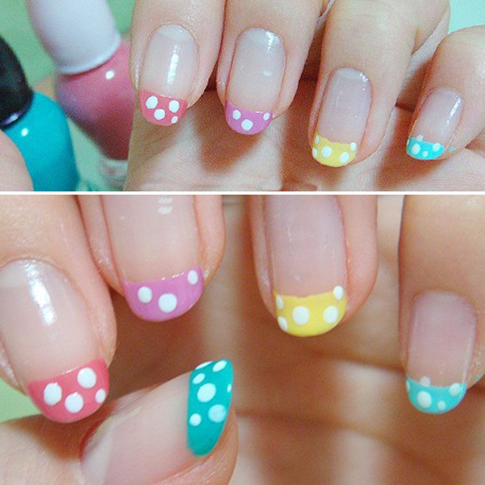 Pro 3 Styles French Nail Art Guide Tips Manicure Paper Stickers ...