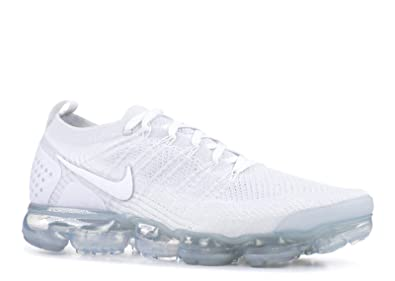 designer fashion d76ef 1e117 Nike Men's Air Vapormax Flyknit 2, White/White-Pure Platinum