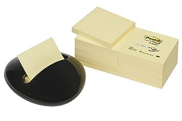 Post-It PBL-B12Y - Dispensador de notas, diseño de piedra, con