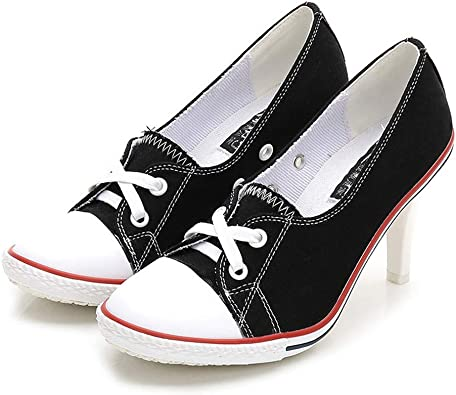 Women Denim Canvas Stiletto High Heel