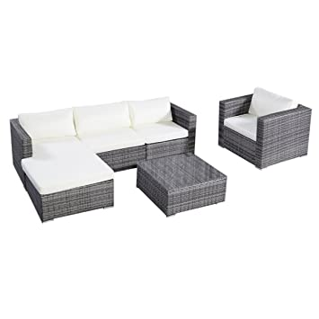 Amazon Tangkula 6PC Furniture Set Aluminum Patio Sofa PE