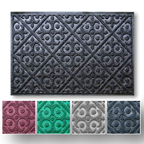 Entry Rug for Indoor and Outdoor Entryway | No Shed Easy Clean Welcome Mat | Shoe Scraper for Front Door Mat Protects Floor | Waterproof and Anti Slip ()