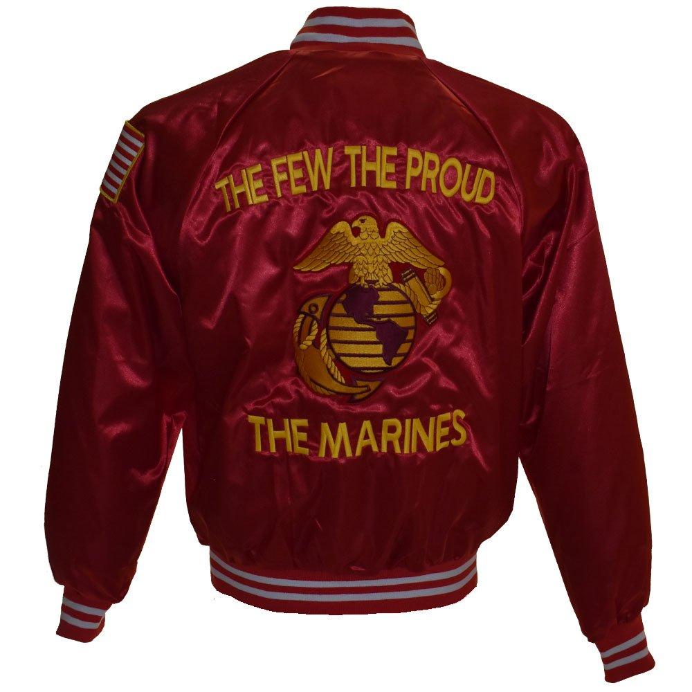 US Marine Corps USMC Satin Jacket, Red