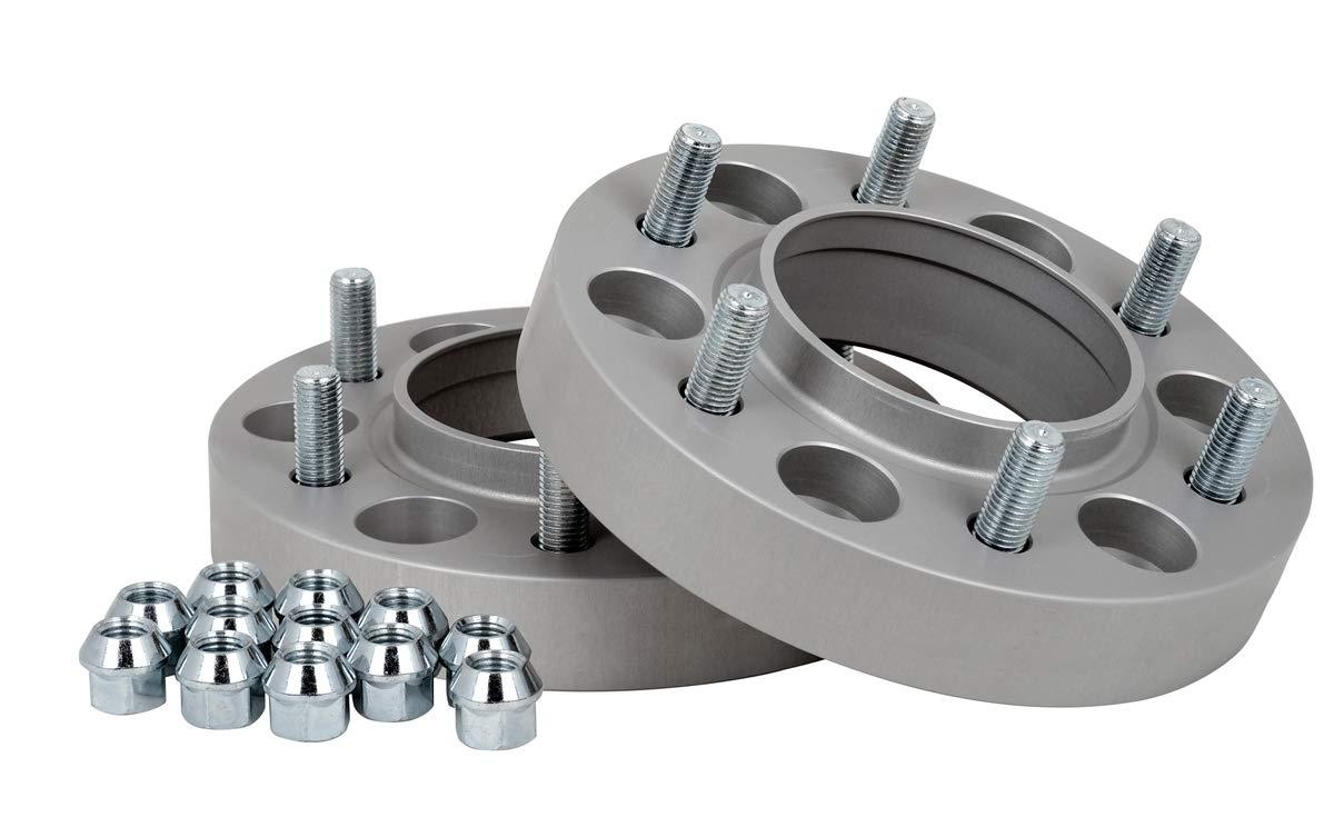 T/ÜV-Teilegutachten Spurverbreiterung Aluminium 2 St/ück 30 mm pro Scheibe // 60 mm pro Achse incl