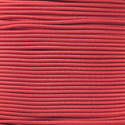 1/8 Inch Shock Cord (also known as bungee cord) for Replacement, Repair, and Outdoors (50 Feet, Imperial Red) by PARACORD PLANET