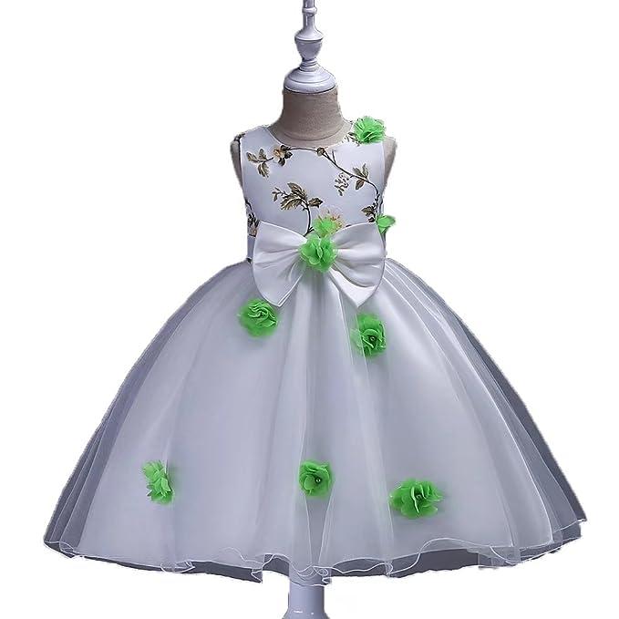 a79c1af1bcb9 Amazon.com: ZaH Girl Girl Dress Kids Ruffles Lace Party Wedding ...