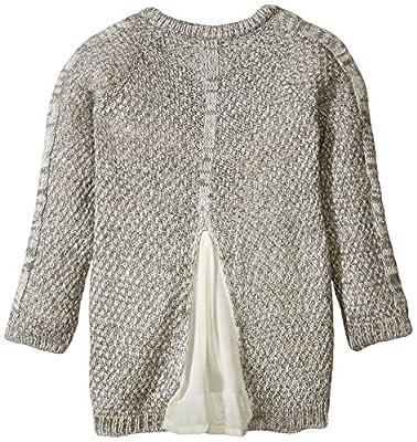 Little Lass Girls' 2 Piece Sweater Set Chiffon Back