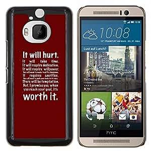 Eason Shop / Premium SLIM PC / Aliminium Casa Carcasa Funda Case Bandera Cover - Se boxeo rojos Ejercicio Inspiring - For HTC One M9+ M9 Plus