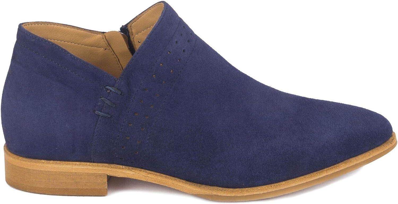 Italeau Womens Florence Italian Leather Handcrafted Waterproof Ankle Bootie