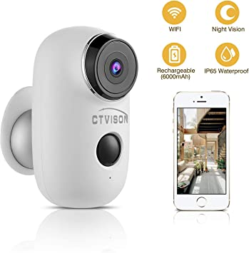 Rechargeable 720P Surveillance Wifi Camera Security Night Vision Two Way Audio