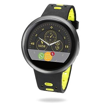 MyKronoz ZeRound2 HR Premium Smartwatch avec capteur de Rythme Cardiaque, Microphone et Haut-Parleur