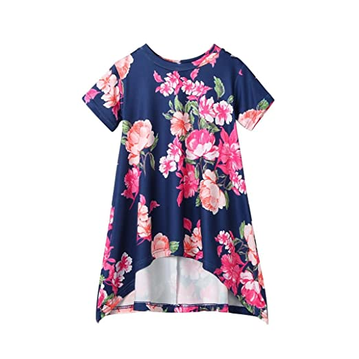 7fac80326a74 Amazon.com  Lisin Toddler Kids Baby Girls Clothes Floral Short ...