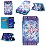 Galaxy Core Prime Case,IVY [Crystal Flower][3D Visual Effect][Strap Kickstand Case][PU Leather Wallet] For - Best Reviews Guide