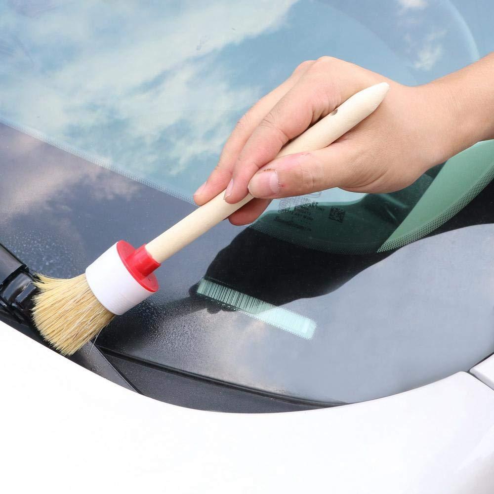 6 St/ück Car Detailing Brush Haar Borsten Auto Details Pinsel Set Master Details B/ürste F/ür Reinigung Detail B/ürsten Ringpinsel Reinigungsb/ürsten