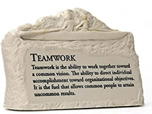 Successories Teamwork Rowers Stone Image Paperweight
