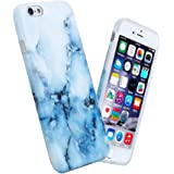 """iPhone 6 6s Case For Girls, Anti-Scratch Anti-Fingerprint, Shock Proof Flexible Soft TPU Case For iPhone 6 / 6s 4.7"""",White Blue Marble"""