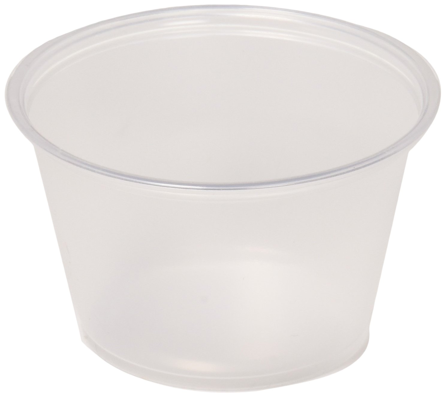 Solo Plastic Cups 0.5 oz Clear Portion Container for Food, Beverages, Crafts (Pack of 125) Solo Cups