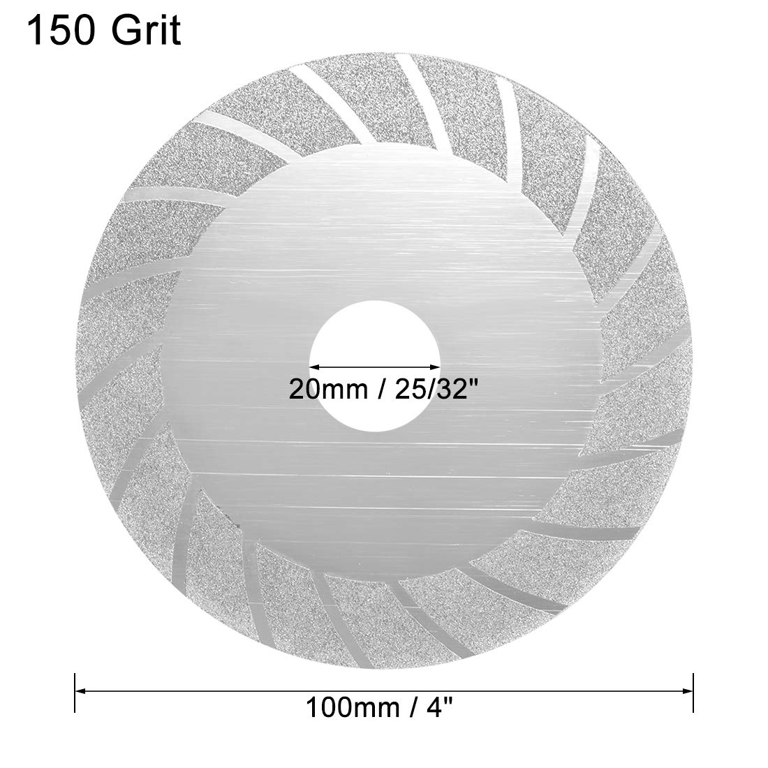 sourcingmap Diamond Grinding Disc Grinding Discs Power Tool Accessories 4 inch Stone Grinding Wheel 150 Grit for Angle Grinder