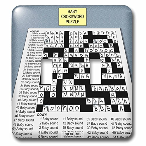 Rich Diesslins Funny Out to Lunch Cartoons - Baby Crossword Puzzle - Light Switch Covers - double toggle switch (Sound Crossword Puzzle)