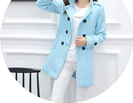 Coat Winter Elegant Women Woolen Coat Casual Double Breasted Wool Coats and Jackets