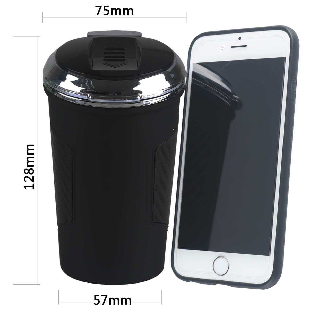 Car Ashtray with Lid Black O3DHQX044U84415CMJV Slide Lighter Portable for Car Cup Holder by RCRunning Blue Led Light