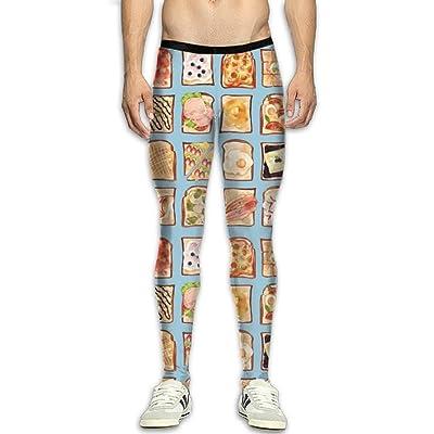 CXCFFRTS Various Sandwiches Compression Pants Men Unique Tights Leggings Tummy Control Gym Tights