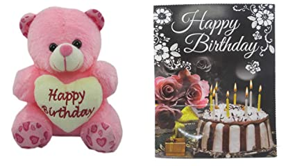 Buy Teddy bear soft toy happy birthday message card for sister ... b5990869a9