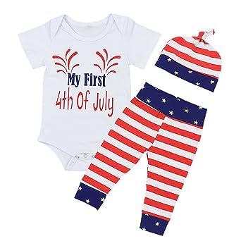 Amazon.com: Bebé niña trajes mi primer 4 de julio bebé ...