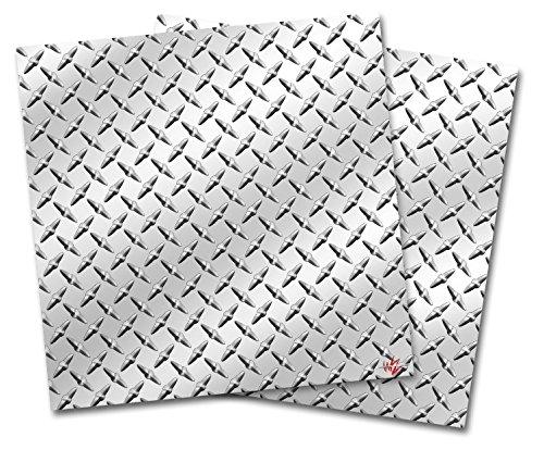 WraptorSkinz Vinyl Craft Cutter Designer 12x12 Sheets Diamond Plate Metal - 2 Pack (Diamond Plate Vinyl Sheets)