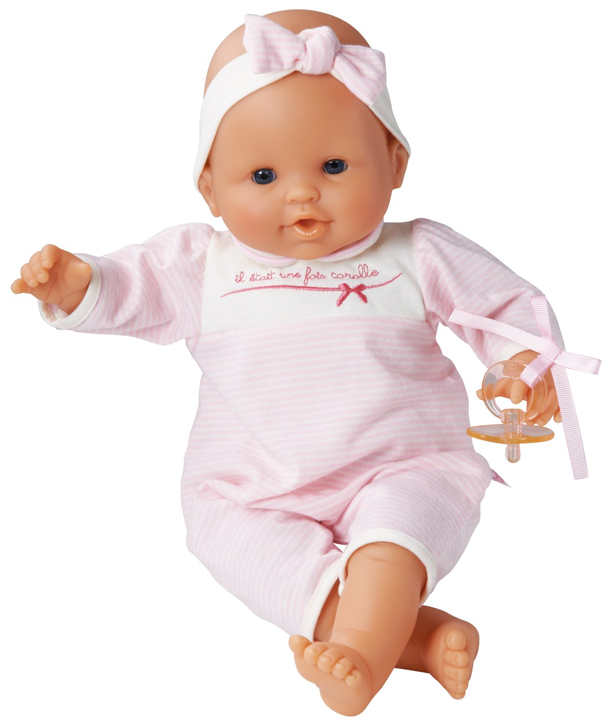Corolle Les Classiques Suce Pouce Pink Stripes Baby Doll - Styles may vary by Corolle