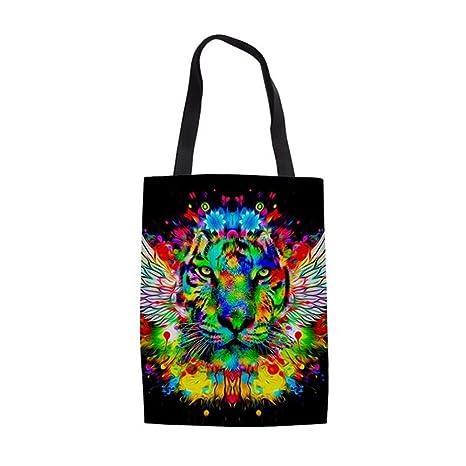 ZXXFR Bolsos Moderno Y Colorido Animal Print De Tigre Mujer ...