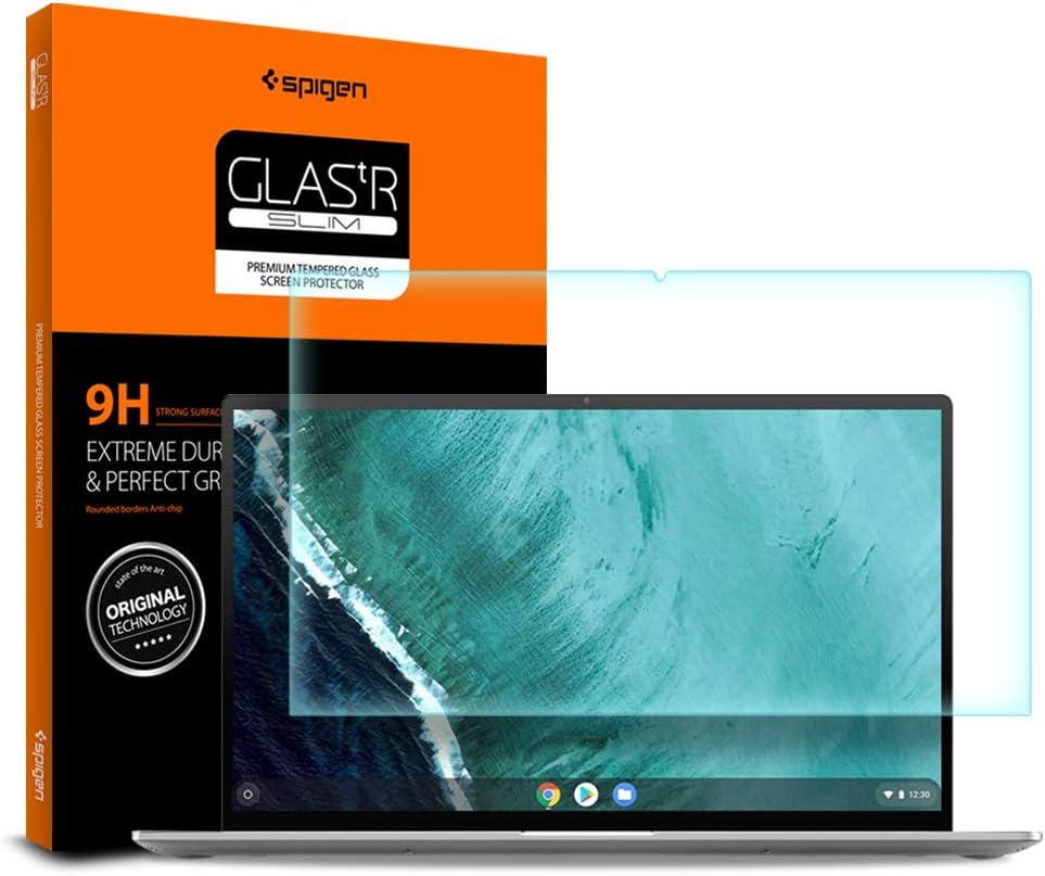Spigen Tempered Glass Screen Protector Designed for Asus Chromebook Flip C436FA / Chromebook Flip C434TA (14 inch) [9H Hardness]