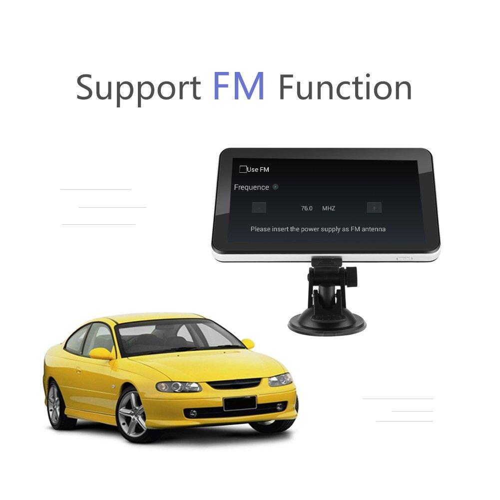dispositif international de syst/ème de cartes de multim/édia de navigateur FM de navigateur GPS d/écran pour le camion de v/éhicule Am/érique du Nord Dispositif de navigation GPS de 7 pouces 128M 8GB